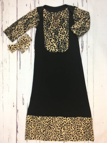 Leopard Lace Gown