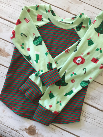 Christmas Pajamas - Christmas Trees and Ornaments