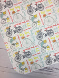 Personalized Bicycle Gown Set