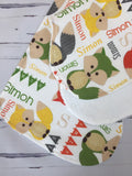 Personalized Fox Blanket & Burp Cloth Set