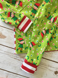 Christmas Pajamas - Elves and Candy Canes