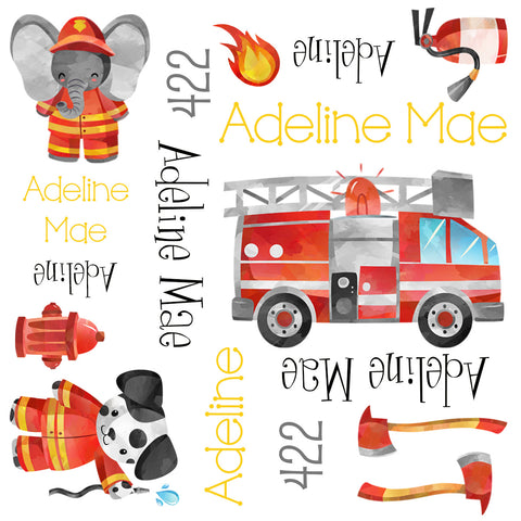 Personalized Firefighter Blanket & Burp Cloth Set