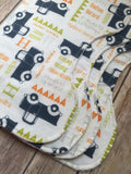 Classic truck baby burp cloths