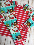 Christmas Pajamas - Santa and Friends