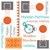 Personalized Basketball Blanket & Burp Cloth Set
