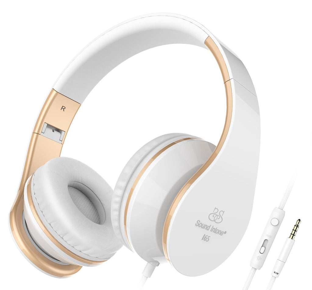 Headphones with Microphone and Volume Control for Iphone and Android Devices