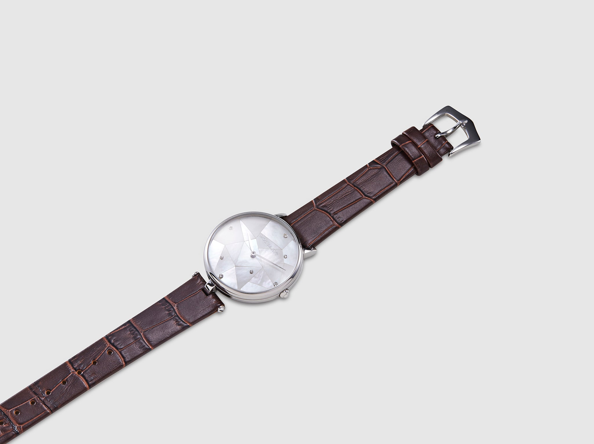 The Bolvaint Vainui Mother-of-Pearl Ladies' Watch – Silver & Garnet Red