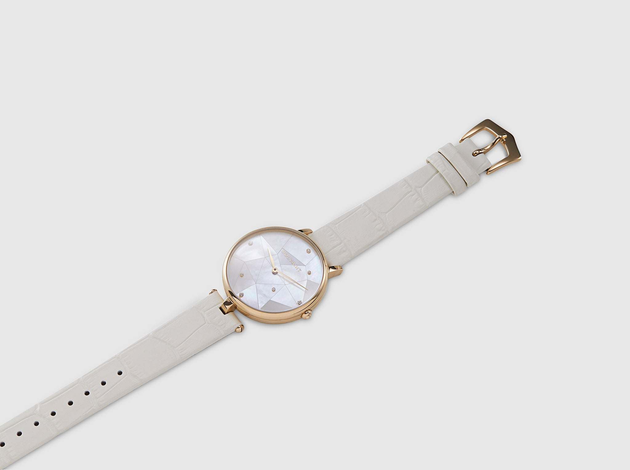 The Bolvaint Vainui Mother-of-Pearl Ladies' Watch – Gold & Ayoka White