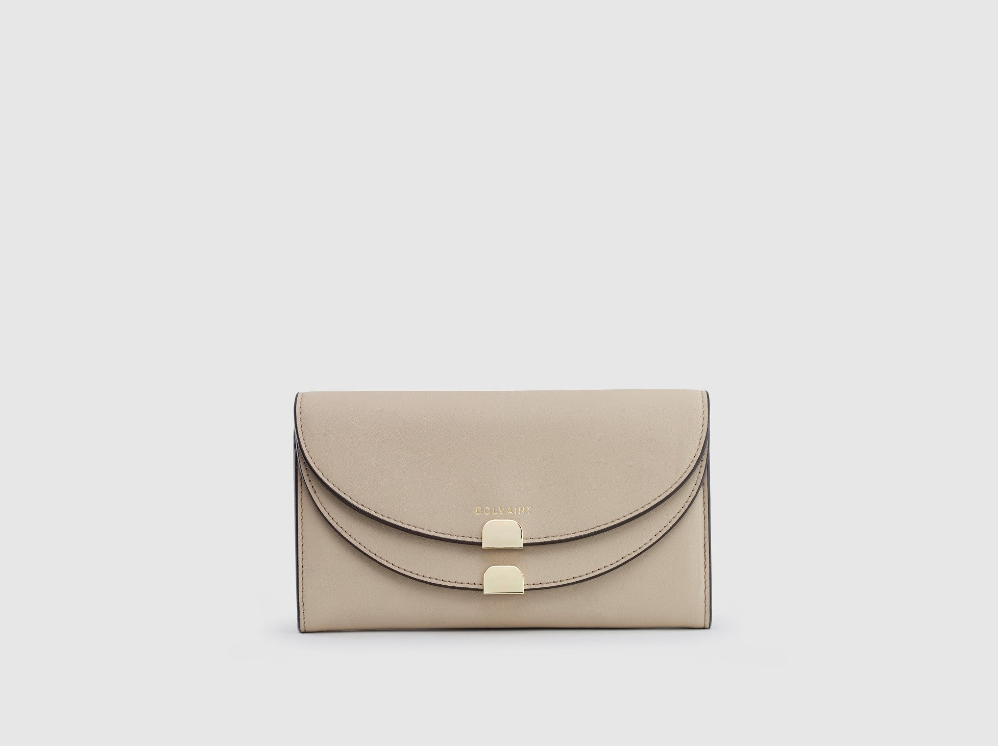 The Aimee Foldover Wallet in Ecru
