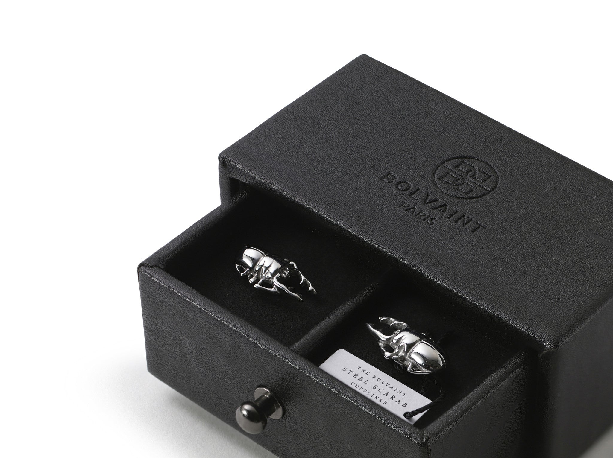 Steel Scarab Cufflinks