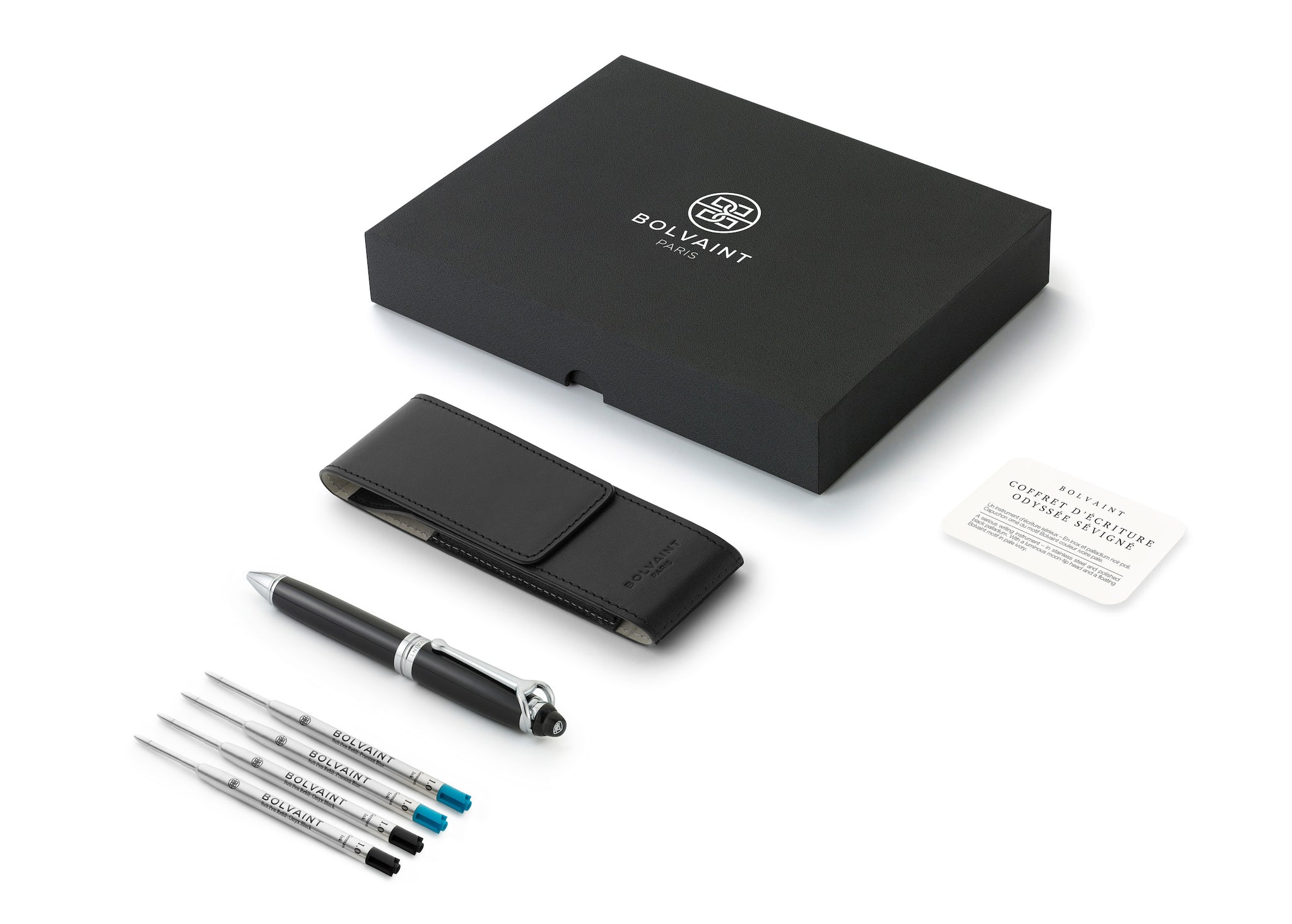 Odyssey Sévigné Pen Set – Onyx Black and Prussian Blue