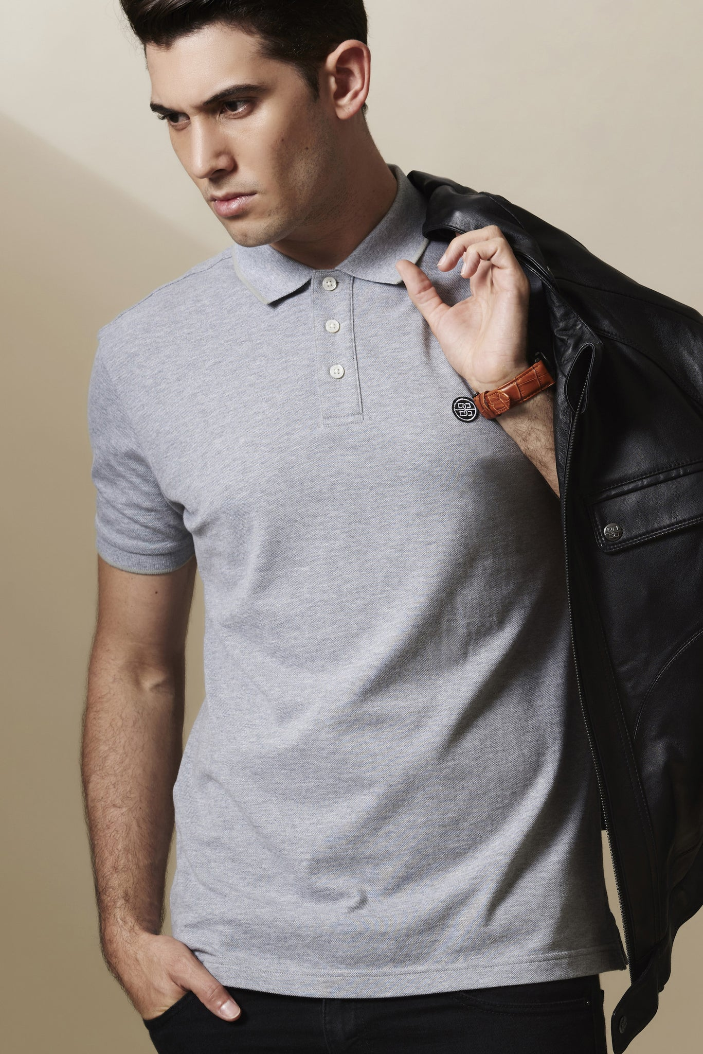 Abreu Polo Shirt in Ocean Grey