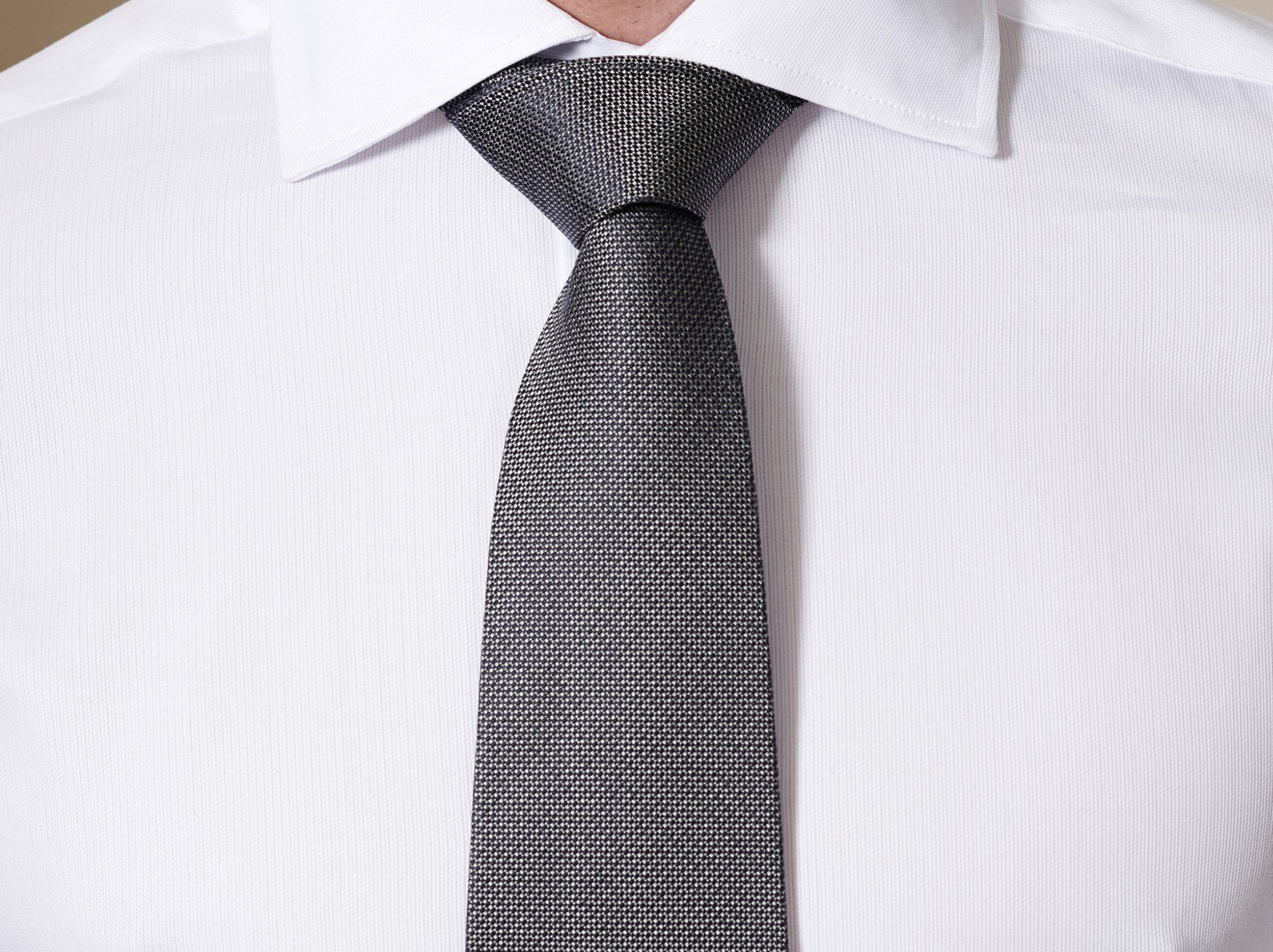 Tabit Pindot Silk Tie in Slate