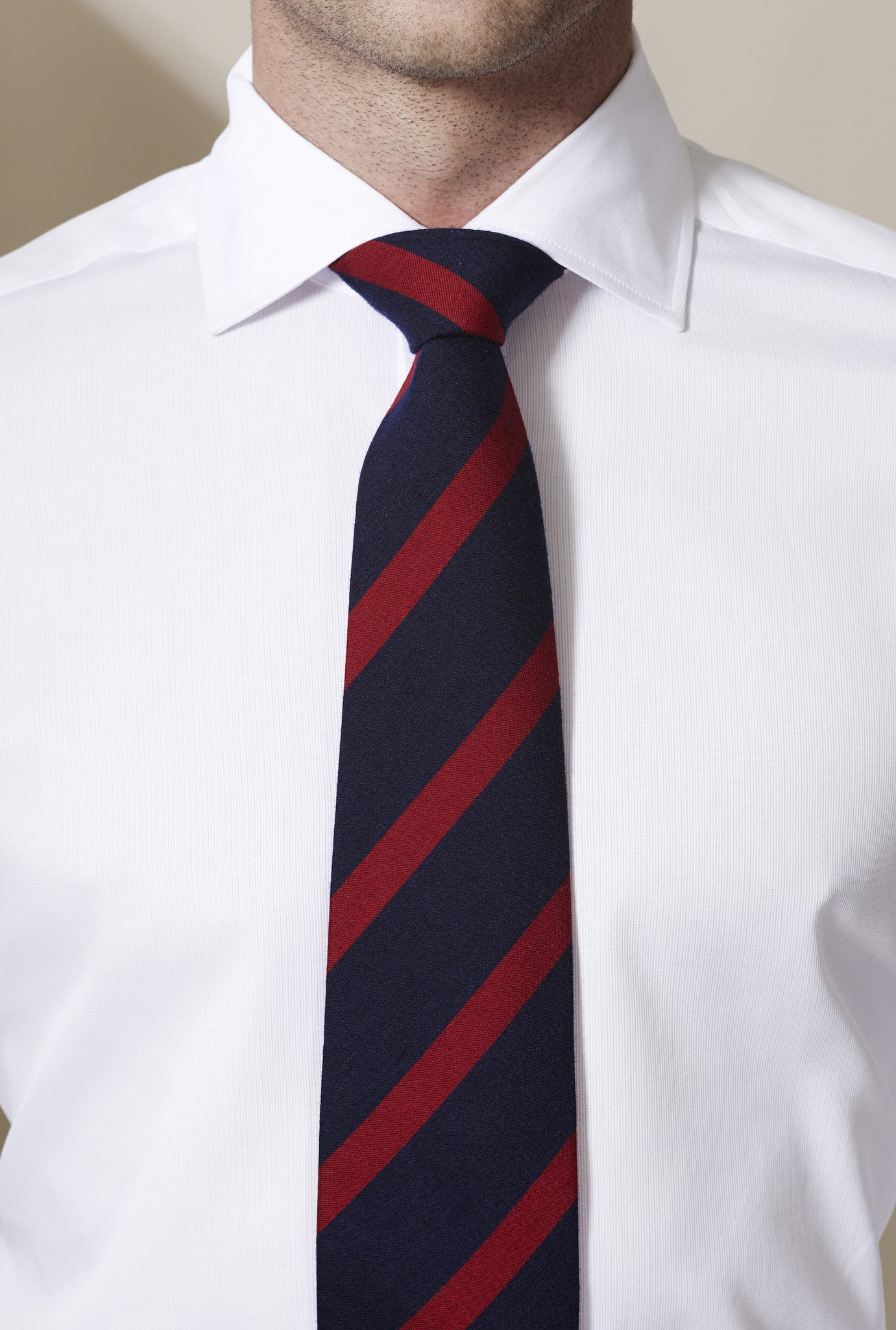 Tabit Oxford Stripe Wool and Silk Tie