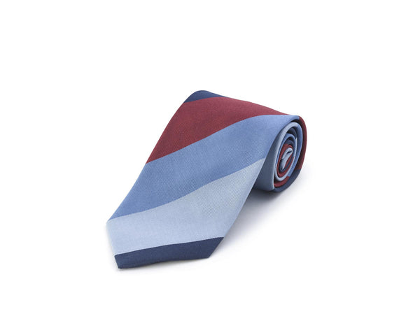 Tabit Autumn Stripe Silk Tie