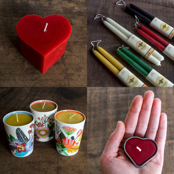 Valentine's Candles from Big Dipper Wax Works