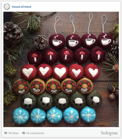 House of Moss Instagram Photo - Christmas Ornaments