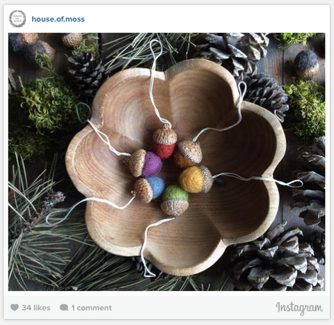 House of Moss Instagram Photo - Acorn Ornaments