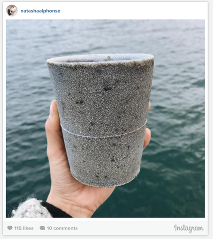 Natasha Alphonse Instagram Photo - Mug in front of the Sea
