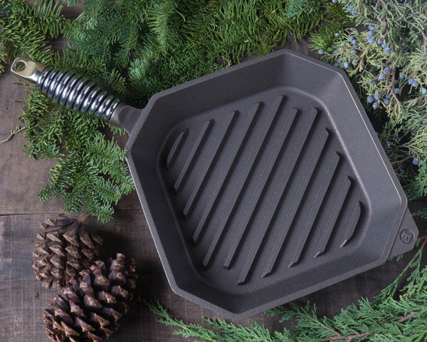 "10"" Cast Iron Grill Pan - Finex - Cascadian Dry Goods"