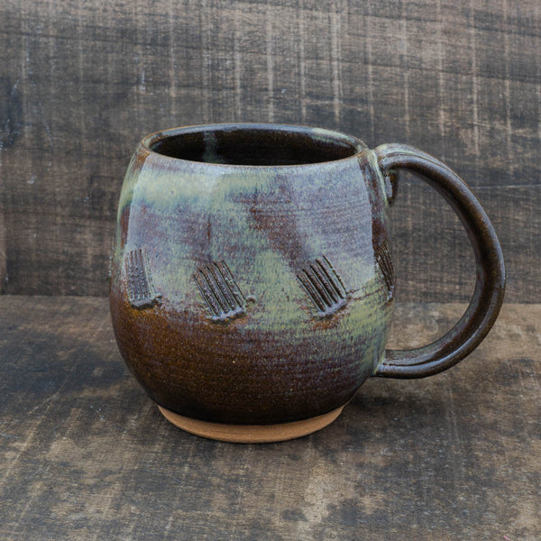 Brown Textured Northwest Mug - Fern Street Pottery - Cascadian Dry Goods