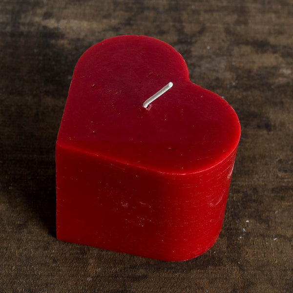 Beeswax Heart Pillar Candle - Big Dipper Wax Works - Cascadian Dry Goods