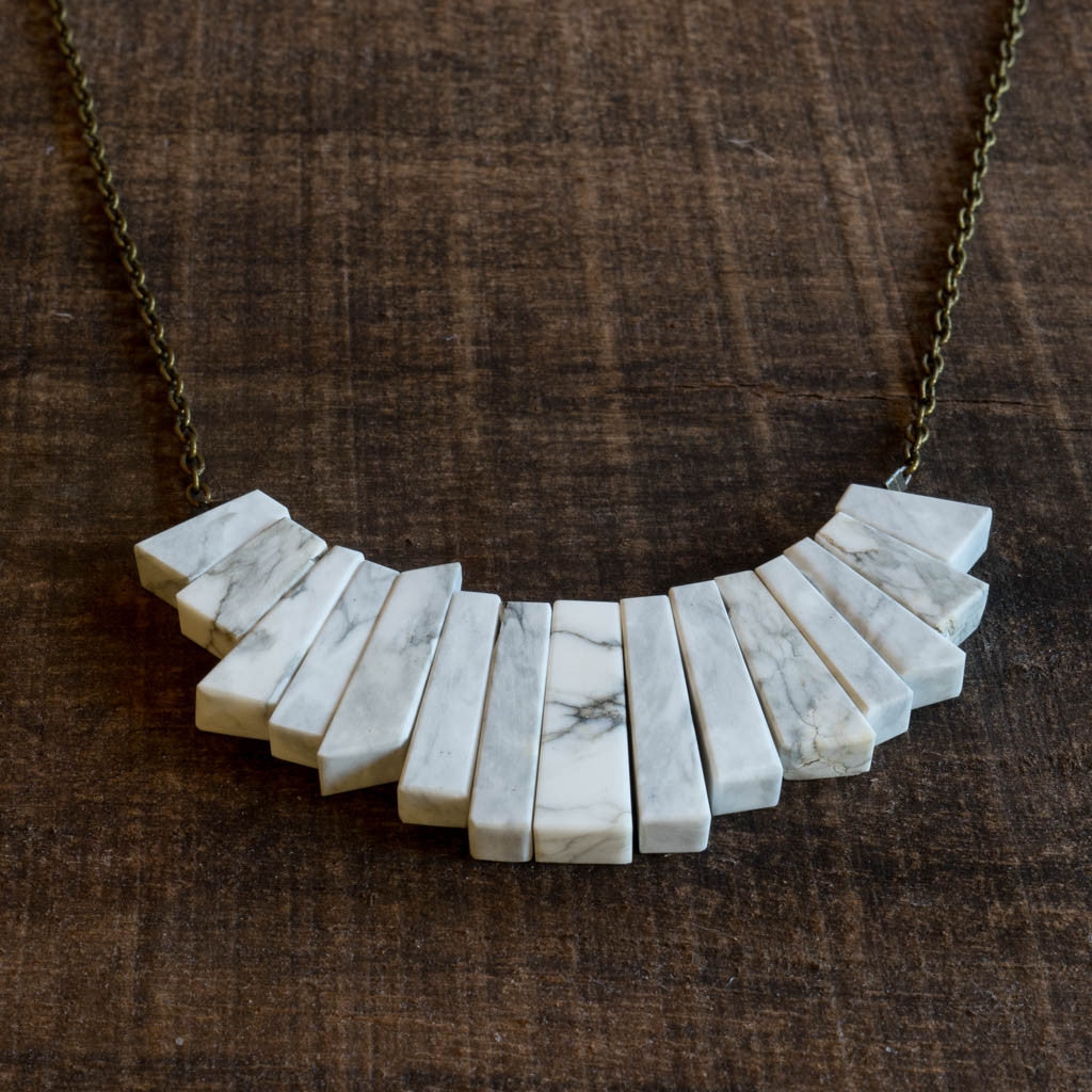 Howlite Collar Necklace - Alison Jean Cole - Cascadian Dry Goods