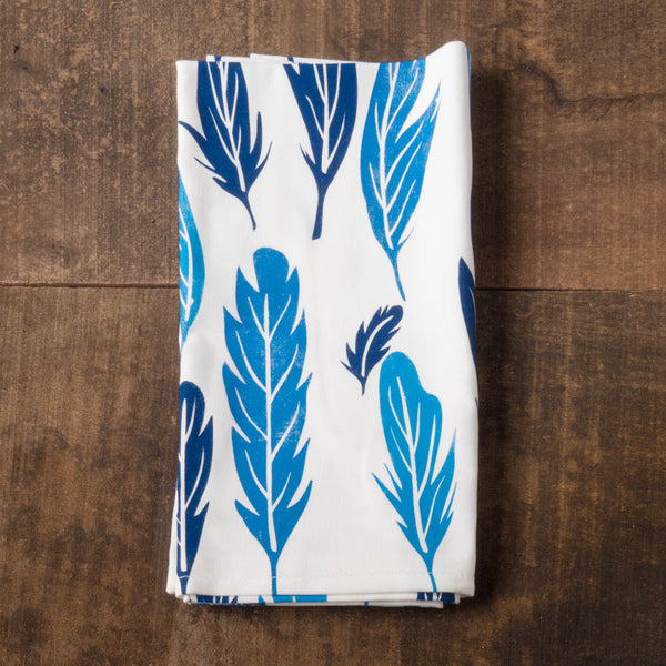 Feather Napkins - Chloe Derderian Gilbert - Cascadian Dry Goods