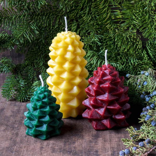 Beeswax Pinecone Candles - Big Dipper Wax Works - Cascadian Dry Goods