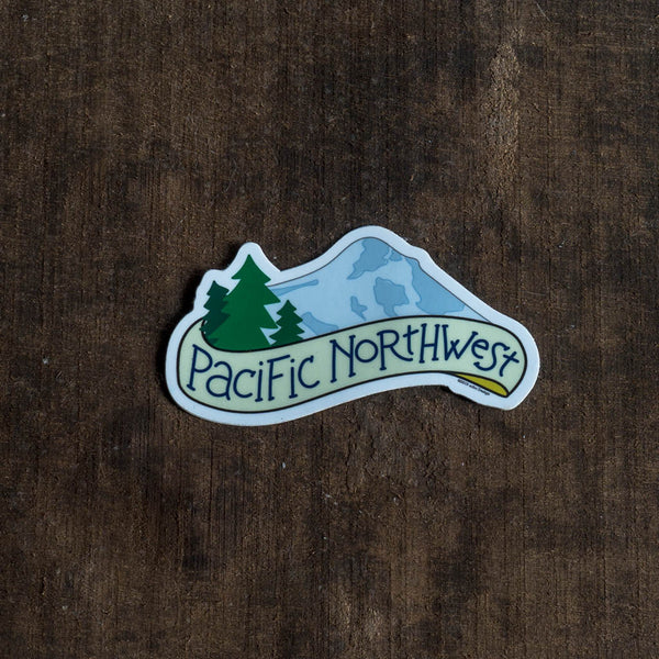 Pacific Northwest Vinyl Sticker - acbc Design - Cascadian Dry Goods