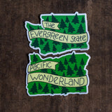 The Evergreen State Vinyl Sticker - acbc Design - Cascadian Dry Goods
