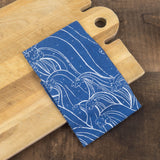 Indigo Waves Tea Towel - Chloe Derderian Gilbert - Cascadian Dry Goods