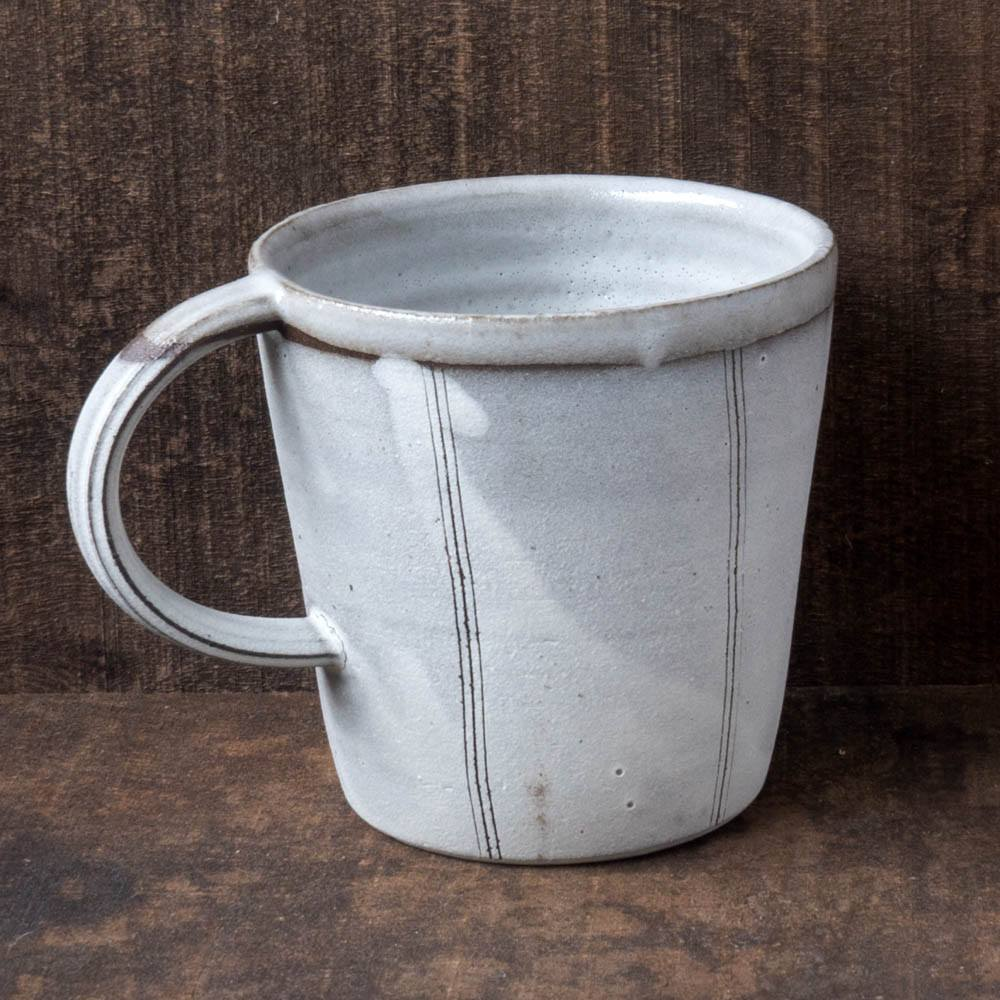 White and Black Striped Mug - Natasha Alphonse - Cascadian Dry Goods