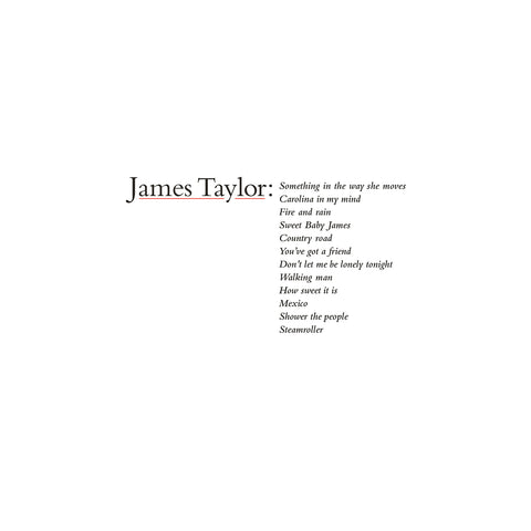 <b>James Taylor </b><br><i>James Taylor's Greatest Hits (2019 Remaster)</i>