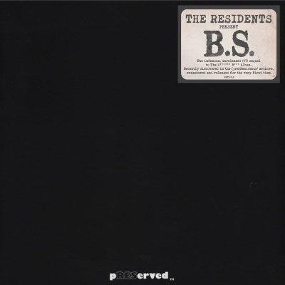 The Residents B S Lp Preserved Edition Plaid Room Records