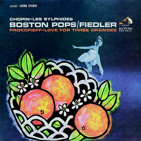 <b>Arthur Fiedler, Boston Pops Orchestra </b><br><i>Chopin: Les Sylphides/Prokofieff: Love For Three Oranges</i>