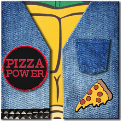 "<b>Teenage Mutant Ninja Turtles </b><br><i>Pizza Power Single [7"" w/ 2 Patches]</i>"
