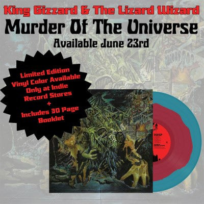 <b>King Gizzard & The Lizard Wizard </b><br><i>Murder Of The Universe [Indie-Exclusive Bloodpool Blue Vinyl]</i>