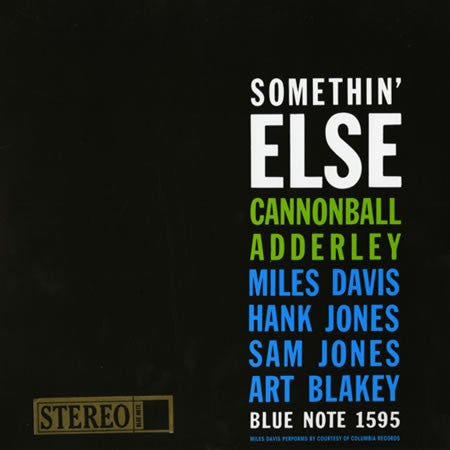 <b>Cannonball Adderley </b><br><i>Somethin' Else [2LP, 45 RPM]</i>