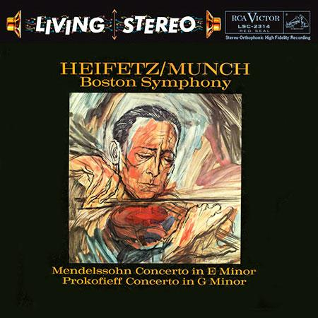 <b>Charles Munch </b><br><i>Mendelssohn: Concerto in E Minor / Prokofiev: Concerto No. 2 in G Minor - Jascha Heifetz, violin</i>