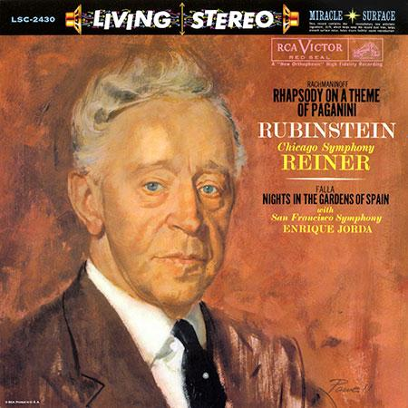 <b>Rubinstein / Reiner / Jorda </b><br><i>Rachmaninoff: Rhapsody on a Theme of Paganini/ Falla: Nights in the Gardens of Spain</i>
