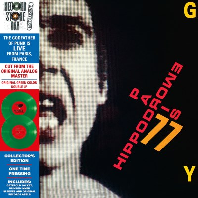 <b>Iggy Pop </b><br><i>Hippodrome - Paris 77</i> [All of our copies have substantial seam splits on the top]