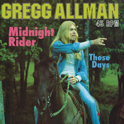 "<b>Gregg Allman </b><br><i>Midnight Rider / These Days [12"" Single]</i>"