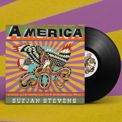"<b>Sufjan Stevens </b><br><i>America [12"" EP] [LIMIT 1 PER CUSTOMER]</i>"