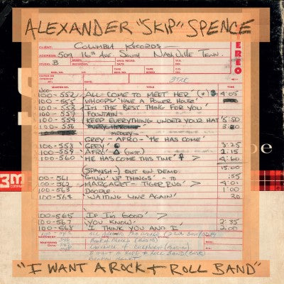 "<b>Alexander ""Skip"" Spence </b><br><i>I Want A Rock & Roll Band / I Got A Lot To Say/mary Jane</i>"