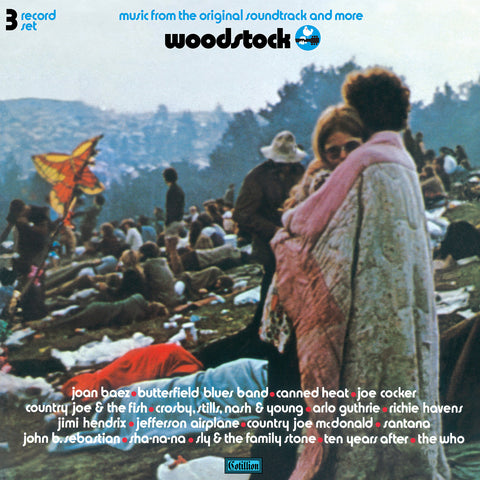<b>Various </b><br><i>Woodstock - Music From The Original Soundtrack And More [3-lp, Half Blue/half Hot Pink Vinyl] [Rhino Summer Of 69 Exclusive]</i>