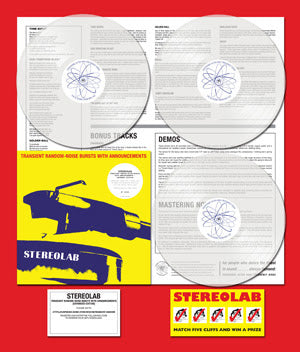 <b>Stereolab </b><br><i>Transient Random Noise- Bursts With Announcements [Limited Clear Vinyl 3LP]</i>