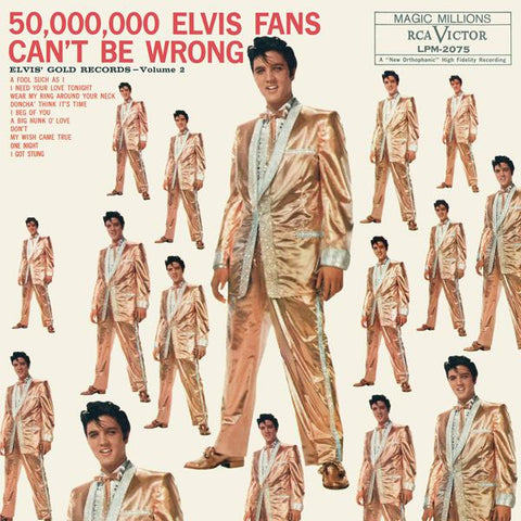 <b>Elvis Presley </b><br><i>50,000,000 Elvis Fans Can't Be Wrong (Elvis' Gold Records, Vol. 2)</i>