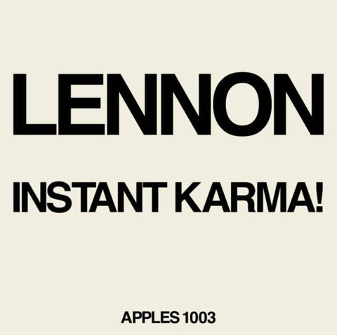 "<b>Lennon / Ono With The Plastic Ono Band </b><br><i>Instant Karma! (2020 Ultimate Mixes) [7"" Single]</i>"