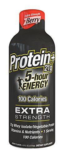 5 Hour Energy Extra Strength With Protein, Berry, 6 Pack